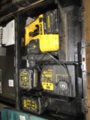 DeWalt cordless rotary hammer drill with 3 x batteries and charger in case