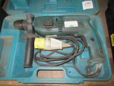 Makita HR2040 hammer drill in case (110V)