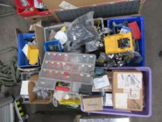 Contents of pallet including Electrical Components, Brackets, Connectors etc