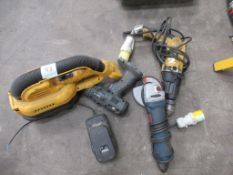 DeWalt 110V Drill, Bosch 110V Angle Grinder, Erbauer Cordless Drill and DeWalt Cordless (no battery)