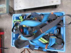 Various Slings/ Harnesses etc in Plastic Crate