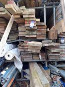 Quantity of Timber, Rebar & Plastic Drainage Pipes