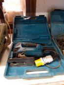 Makita 4350FCT 110v Jigsaw & Makita 110v 115mm Disc Cutter