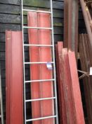 14 various Short Sections of RSJ & Steel Fabricated Ladder