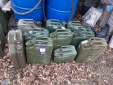 10 Various Jerry Cans