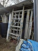 Quantity of Aluminium Scaffold Tower Components & Two Rolls of Plastic Sheeting