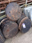 Approx. 30 Manhole Covers, Plastic Manholes & Plastic Inspection Chambers