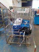 5 Steel Upright Laundry Trolleys