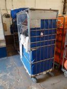 Three Steel Laundry Trolleys