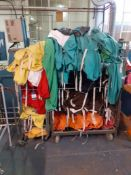 2 Steel Cage Trolleys & Contents of Laundry Bags