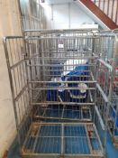 4 Steel Upright Laundry Trolleys