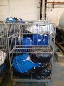 Six Steel Laundry Trolleys