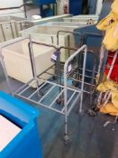 3 Steel Bag Frame Trolleys and Plastic Laundry Tro