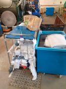Four Various Laundry Trolleys
