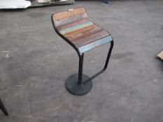 Wooden effect top bar stool
