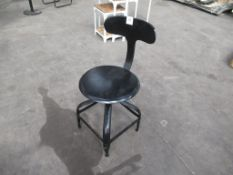 2 x metal high stools