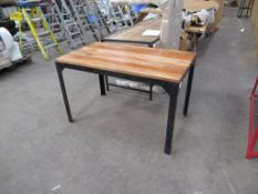 Rivet dining table 1200 x 700mm
