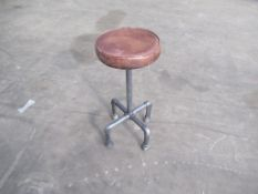 2 x iron leather stools
