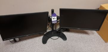 2 x Benq GW2270 monitors, on double stand