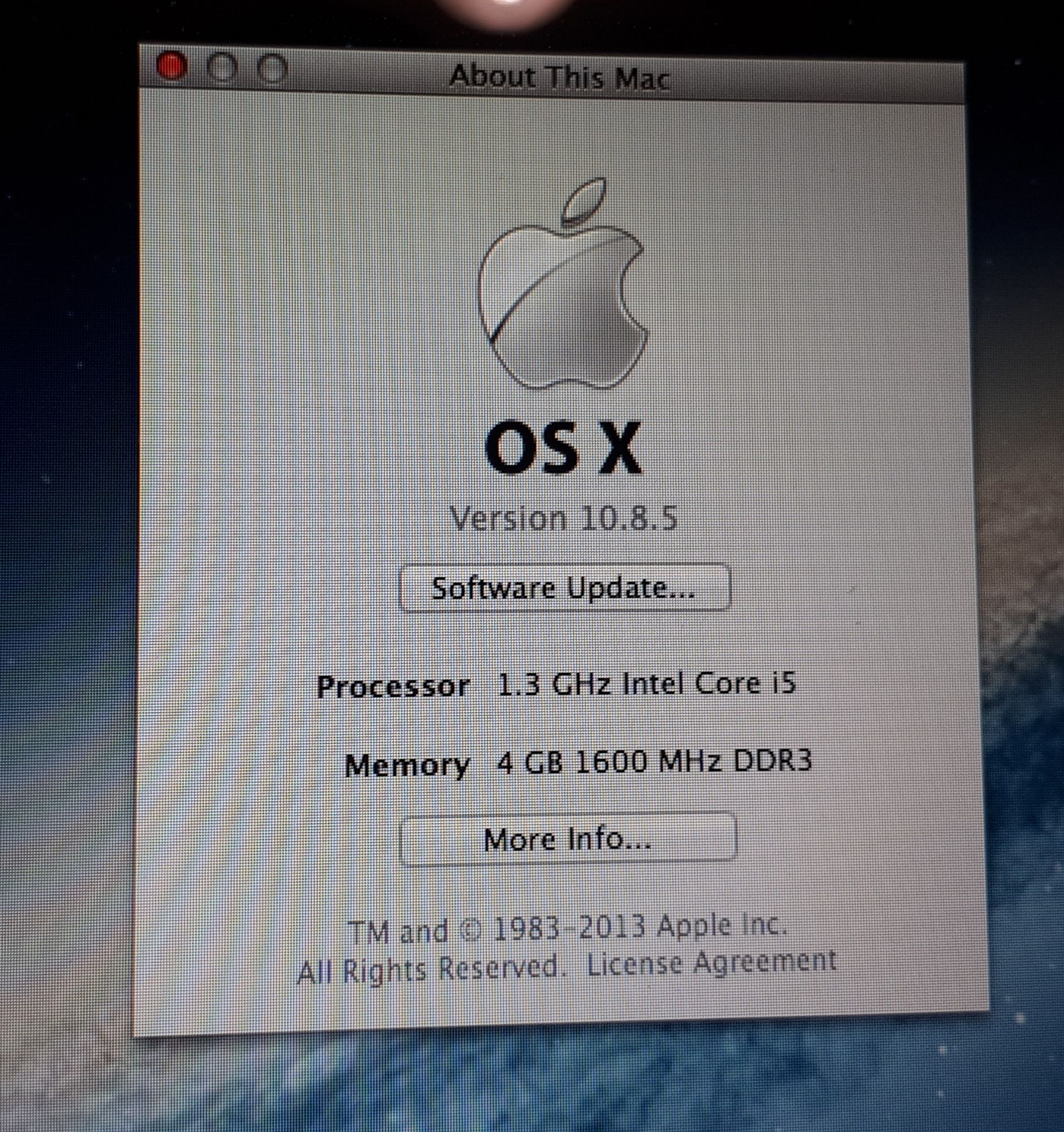 """Apple MacBook Air 13"""" (2013), A1466, 1.3 GHz Intel - Image 3 of 8"""