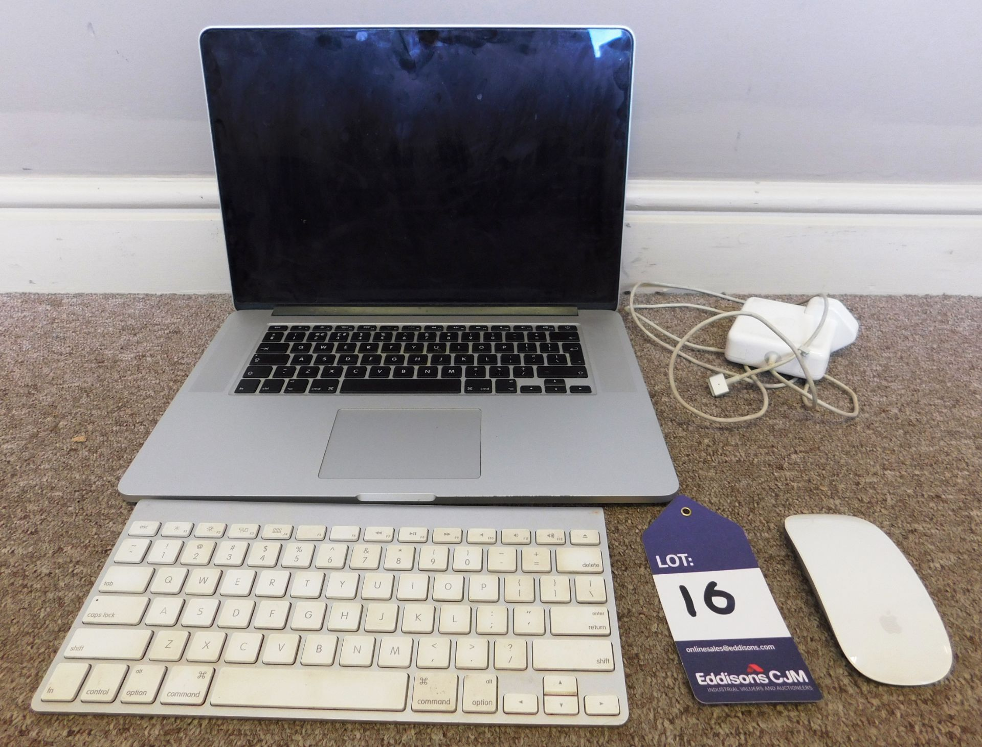 Apple MacBook Pro Retina A1398 15.4 inch Laptop wi - Image 2 of 2