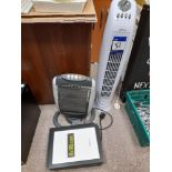 2 x Various electric heaters, with 7 x 21 x 29.7 c