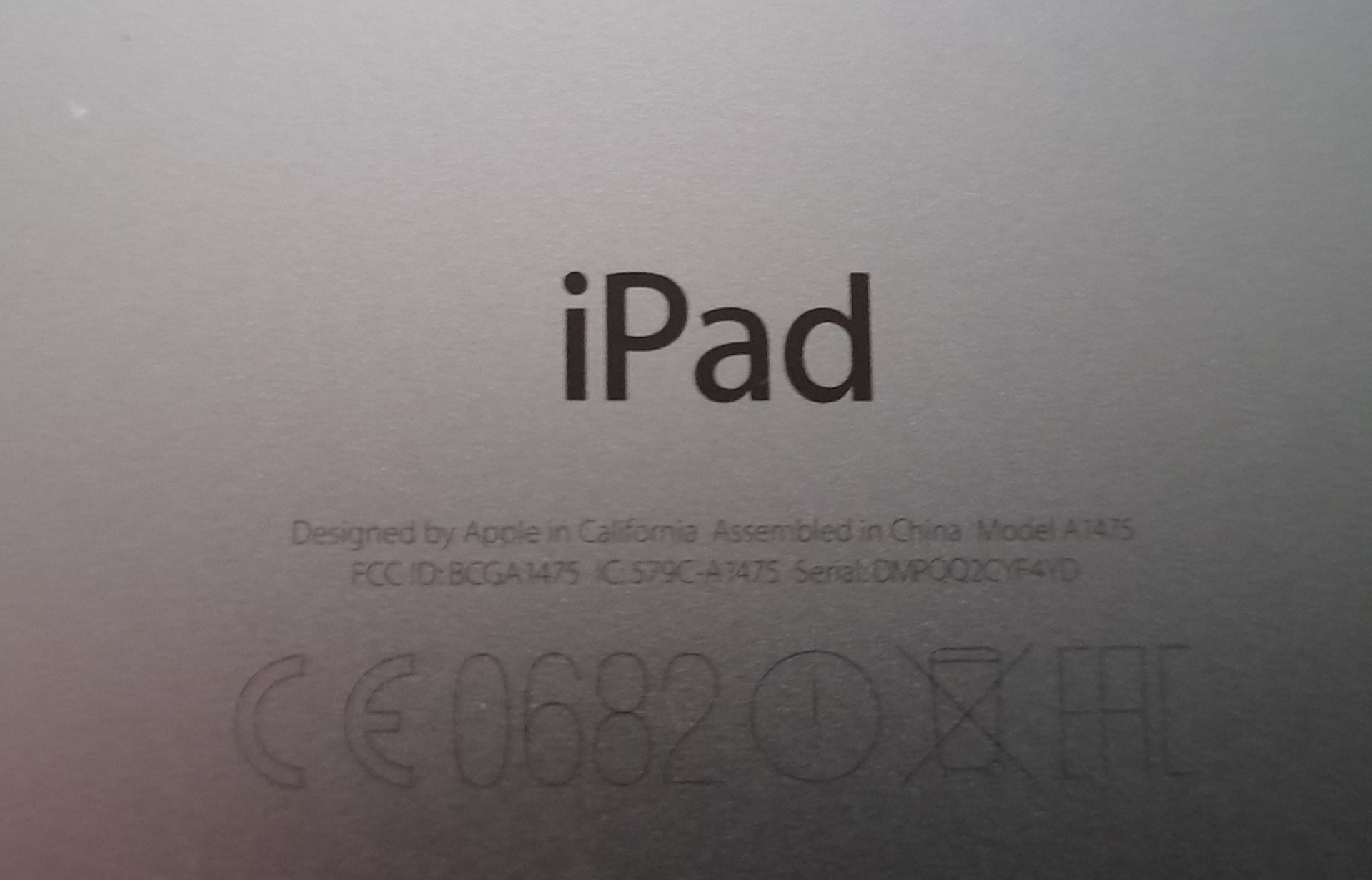 Apple iPad Air, 16GB, Model A1475, Serial Number D - Image 5 of 6