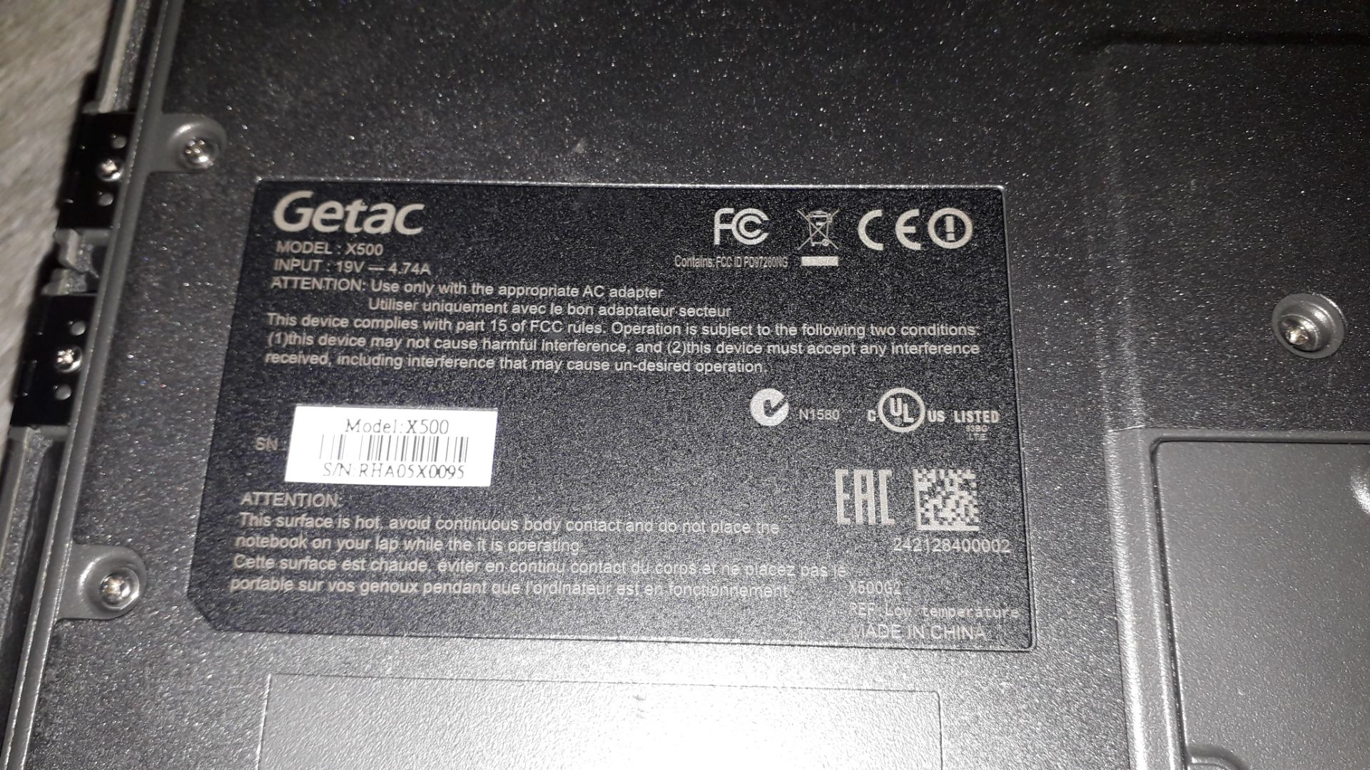 Getac X500 Core i5 8GB, 500GB HDD Ultra Rugged Not - Image 4 of 5