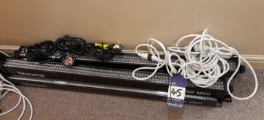 4 x Beamz LCB252 MKII light bars, with cables