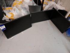 3 x Dell E2314Hf monitors, with desk bracket