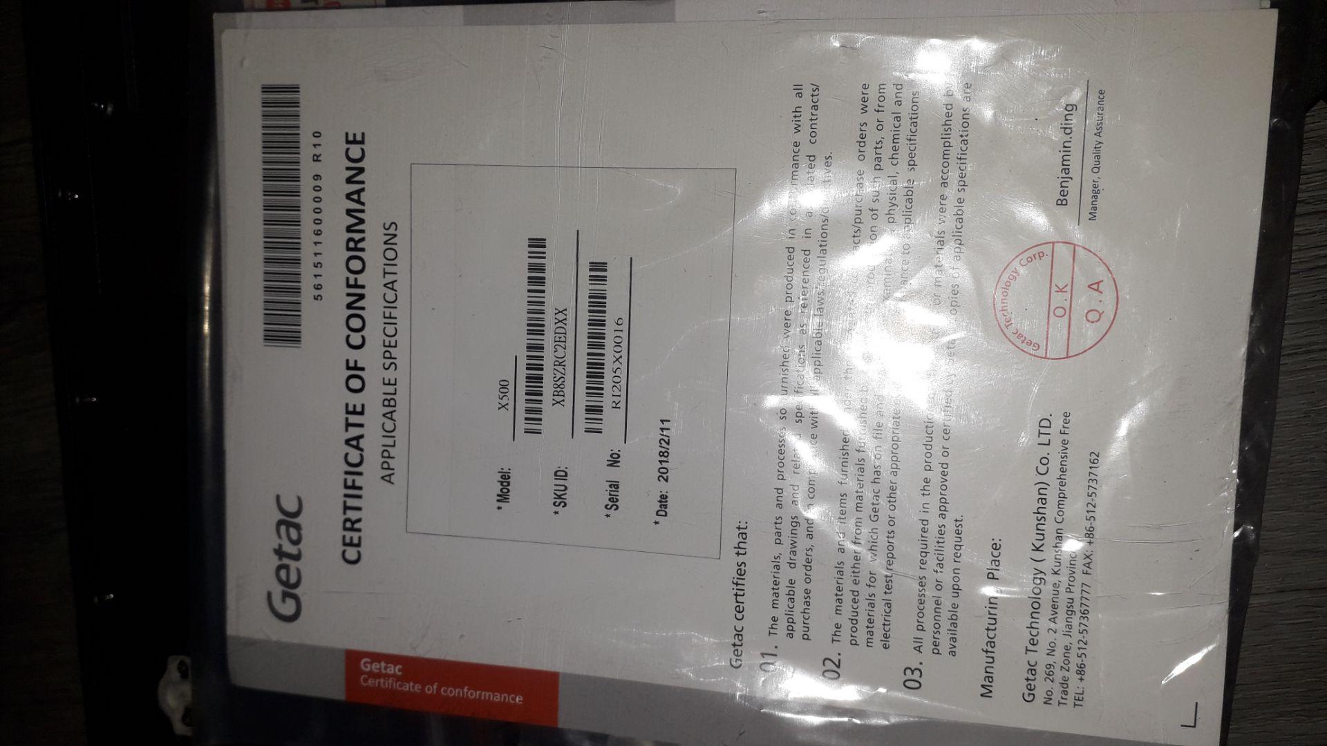 Getac X500 G2 Core i7 8GB, 256GB HDD Ultra Rugged - Image 6 of 9