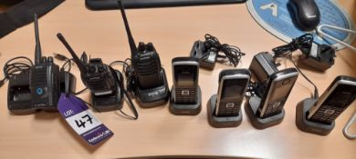 4 x Yealink cordless telephone sets, Model W52PIP