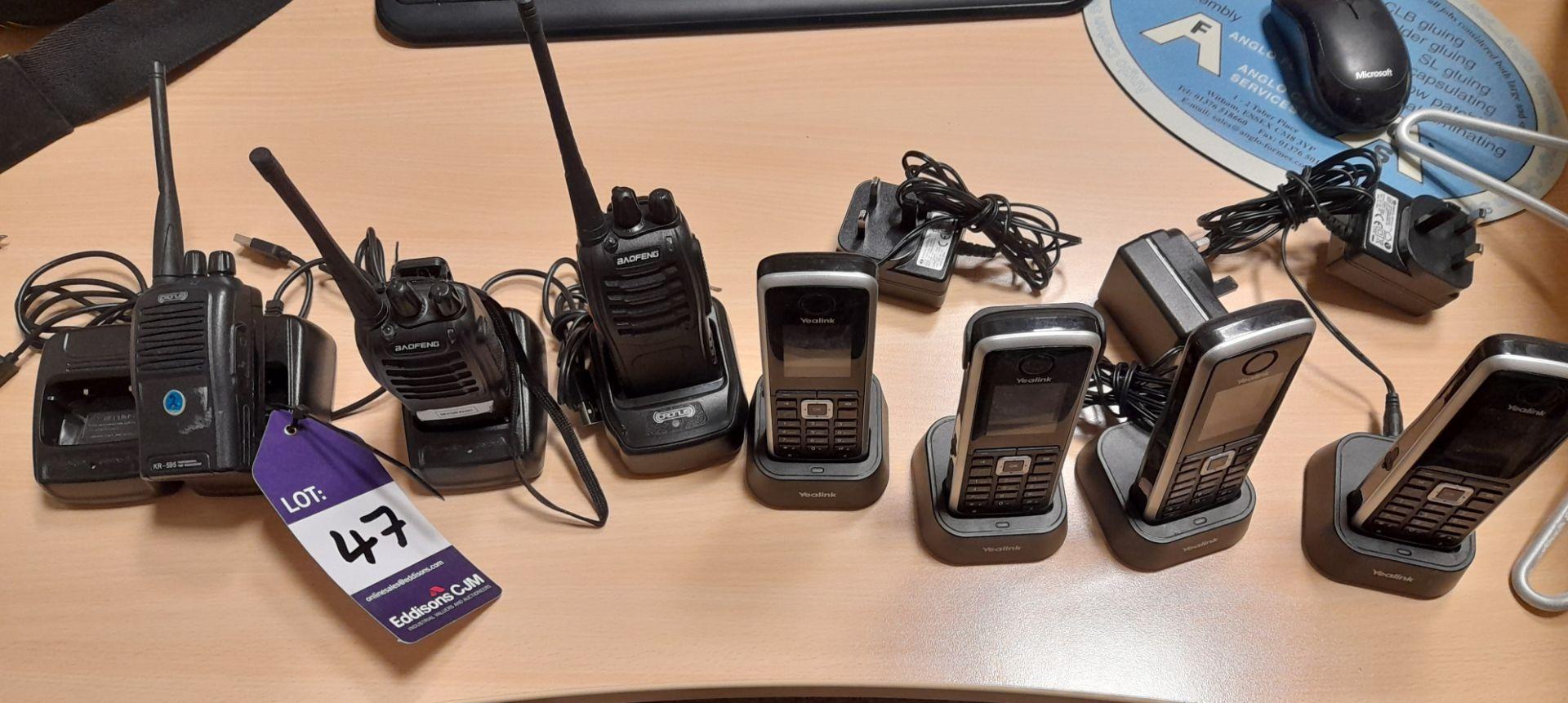 4 x Yealink cordless telephone sets, Model W52PIP