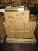 16 x Lumineux Low Glare Panel 40W 600x600x8mm White 4000K OEM Trade Price £ 480