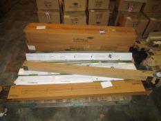 12 x Lumineux 38W 5ft Eco Batten 4000K Single, 4 x Lumineux 4ft Twin Batten 55W 4000K, 1 x