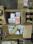 68 x Lumineux Refector R63 9W E14, 7 x Philips 300W R125 Infrared E27