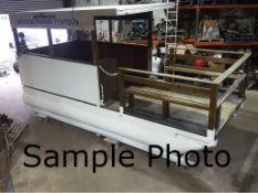 Aluminium fabricated Pontoon Platform, approx.6m x 3m, Capacity 1200kg-1500kg, Marine grade