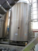 Silo 3- C 30,000 Litre Stainless Steel Silo with Top Agitation and 5 Valves