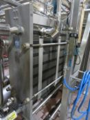 1995 Alfa Laval Clip 8.RM Plate Pasteuriser. 1.9m Long Frame and 1.04m of Plates