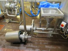 2x Pumps- 1995 Alfa Laval MR2005 7.5KW and Alfa Laval MR2000A Grinder Pump and Stainless Steel Hoppe