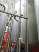 2 x Stainless Steel Tanks (N1 & N2) with Agitators with Valve Matrices pump & Ladder to Common Gantr