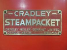 Boiler 10,000LB PH Cradley Steampacket 100PSi 1986, No C59607 with Hamworthy Burner and Spirax Sparc