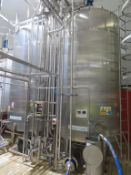 2 x Stainless Steel Waste Tanks (1 & 2) with Weighsol Load Cells & Read Out, Valve Matrices, Balance