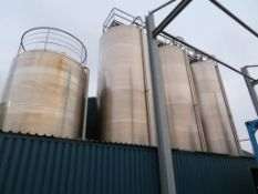 Moeschle 59,500 Litre Stainless Steel Tank with Nova Weigh Load Cells with Agitator