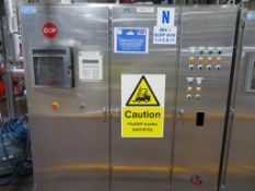 Stainless Steel Control Cabinet (Alfa 11) c 1.83m x 0.53m x 2.2m High