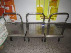 3 x S/S Trolleys