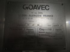 1992 Goavec 10,250 Litre insulated Stainless Steel Tank (BT1)