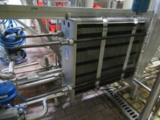 1996 Alfa Laval Clip 6- RM Plate Pack Pasteuriser. 1.88m Long Frame with 1.05m of Plates