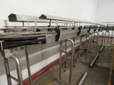 Narrow Acrylic Slat Bank Transfer Conveyors