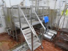 3 x CIP System Stainless Steel Tanks with 4 x APV Puma Pumps
